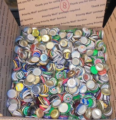 12 lbs 2500+/- used beer bottle caps for crafts box #8 free us shipping