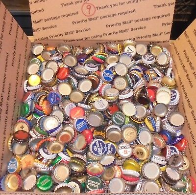12 lbs 2500+/- used beer bottle caps for crafts box #9 free us shipping