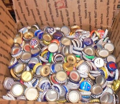 7 lbs used beer bottle caps for crafts box #2 free us shipping