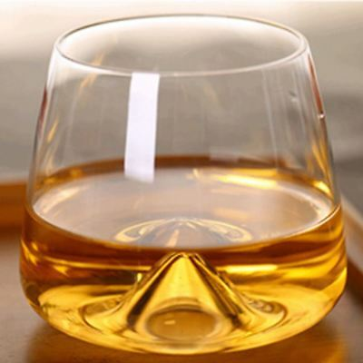 2pcs/set Crystal Wine Glass Cup Concave Whiskey GLASSES- Spirit Drinking Tumbler
