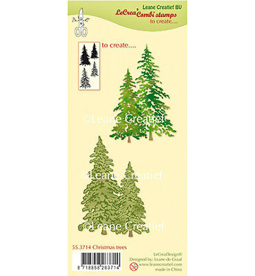 Motivstempel Clearstamp Christmas trees layered Tannenbaum LeaneCreatief 55.3714
