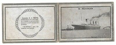 Two Titanic (In Memoriam) cards. Four sides each.