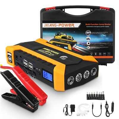 4 USB 89800mAh Portable Car Jump Starter Pack Booster Battery Charger Power Bank