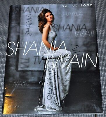 """Shania Twain """"Come on Over"""" Tour Program Book from 1998 Tour + now w/Free Gifts"""