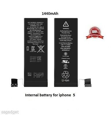 REPLACEMENT BATTERY FOR iPHONE 5 1440mAh WITH WARRANTY
