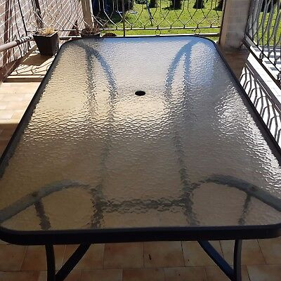 Glass Outdoor Table