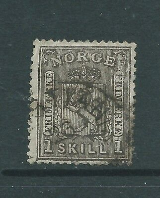 NORWAY 1867 1sk USED  SEE BOTH SCANS FOR CONDITION