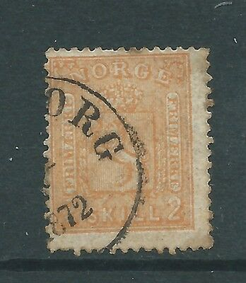 NORWAY 1867 2sk USED  SEE BOTH SCANS FOR CONDITION