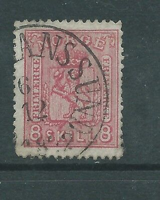 NORWAY 1867 8sk USED  SEE BOTH SCANS FOR CONDITION