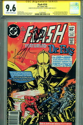 9.6 CGC SS The Flash #310 Signed by Keith Giffen & Adam Kubert Art Dr. Fate App.