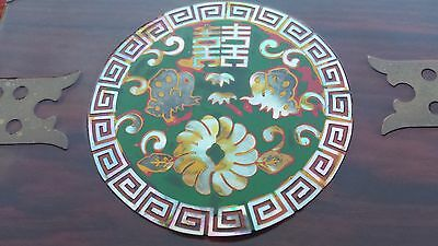 Chinese Vintage 4 Drawers  Lacquer and Mother of Pearl Jewelry Box