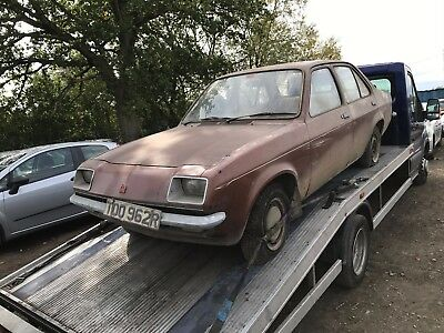 1977 Vauxhall Chevette L 1.3 Barn Find Spares Or Repairs *rare* 1 Former Owner