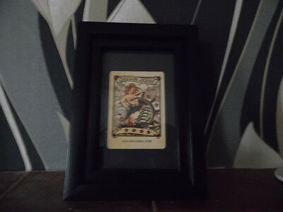 Sailor Jerry Framed  Playing Card Vintage Pin Up Girl Tattoo Studio Flash Art