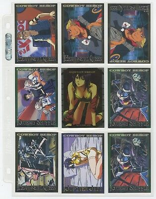 30 COWBOY BEBOP TRADING CARDS TV MOVIE Edition NEW HOBBY JAPAN SUNRISE 2002