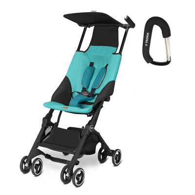 2017 GB Pockit Stroller - FREE BABY STROLLER HOOK INCLUDED – Capri Blue -NEW