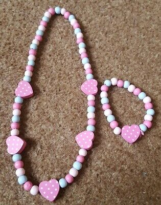 Childrens Wooden Jewellery Necklace Bracelet
