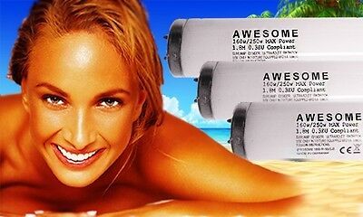 BRAND NEW 250watt AWESOME MAX 0.3 COMPLIANT 2mtr RAPID TANNING SUNBED LAMP/TUBES
