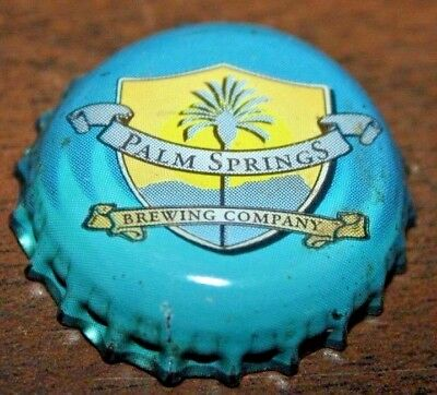One Used Palm Springs Brewing Company Plastic Lined Beer Bottle Crown Cap; Ccsi