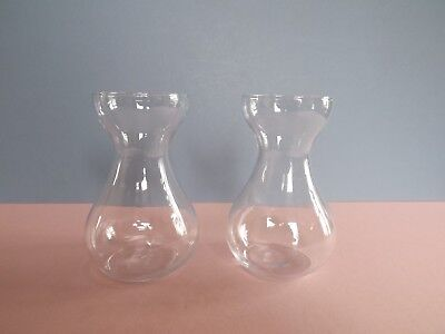 Pair of Clear Glass Hyacinth Vases  (64.86)