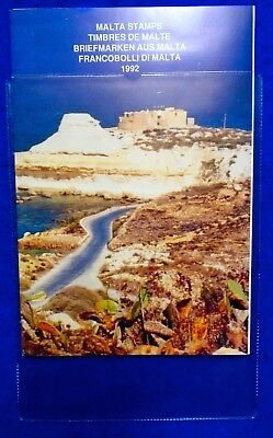 1992 Malta Post Complete Year Pack + Card & Protective Cover MNH.