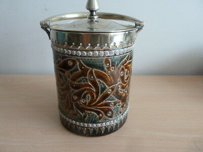 Stunning Doulton Lambeth  Biscuit Barrel By Elizabeth Sayers