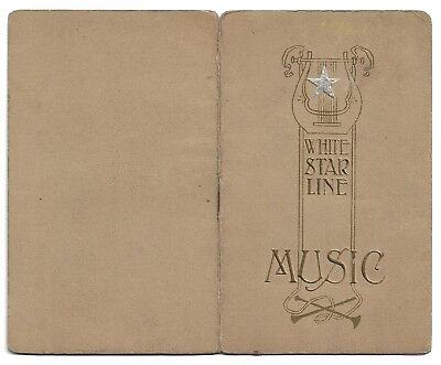 Two White Star Line song sheets