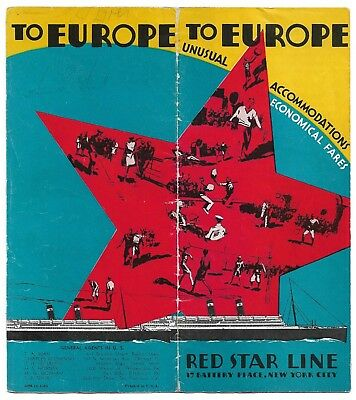 Red Star Line brochure Westernland and Pennland