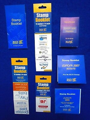 2003<2008 Malta 7 Stamp Booklets + Local Collection JB:B7<B13 CV£40+