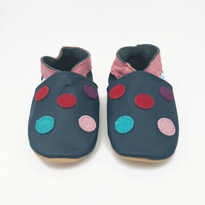 *SECONDS* GIRLS 2-3 YEARS - Dotty Fish Soft Leather Baby and Toddler Shoes