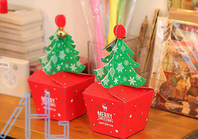 Merry Christmas Tree Bell Party Paper Favour Gift Sweets Carrier Bags Boxes UK