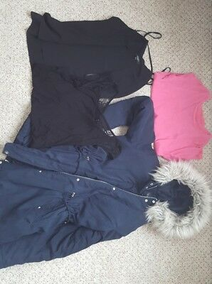 ladies size 10-12 maternity bundle (H&M and NewLook) tops and coat