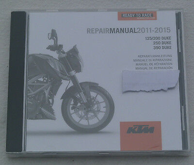 KTM 125 Duke duke 125 Reparaturanleitung Repair Manuel CD 011-015