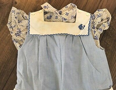 Vintage 1970s Baby Outfit- Size 6 Months