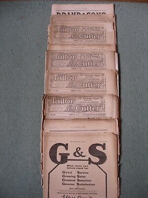 Job lot 9,rare,antique'Tailor and Cutter' magazines,1915