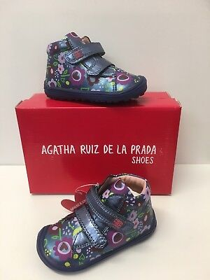 Agatha Ruiz De La Prada Infant Girls Ankle Boots Blue Multi Floral (171911)