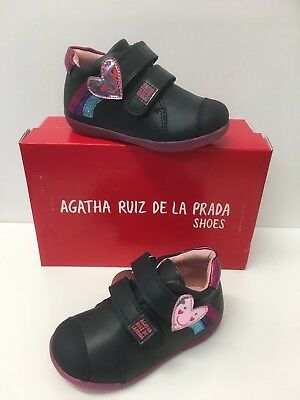 Agatha Ruiz De La Prada Infant Girls Ankle Boots Navy with Heart design (171901)