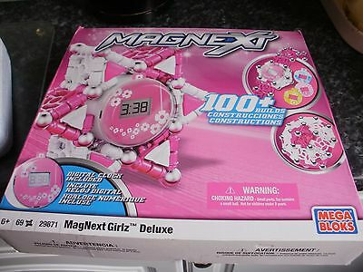 Mega Bloks Magnext Set For Girlz ..with Digital Clock.. Box And Instructions