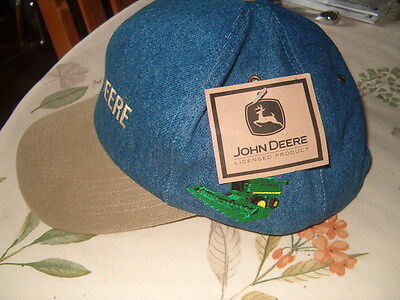 John Deere Denim Hat/cap New W/tags