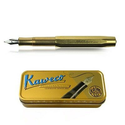 Kaweco Sport Fountain Pen Brass Nib: BB