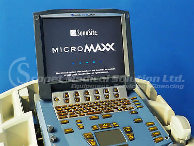 Sonosite MicroMAXX  Portable Ultrasound System with 2 Probes