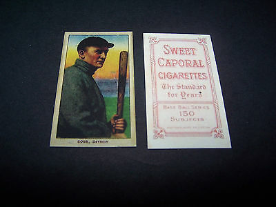 ( TY COBB ) 1909-11 T206 Sweet Caporal Tigers Tabacco Baseball Reprint Card
