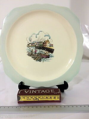 🌟 Vintage Plate Old Fishermen With Nets Lord Nelson Ware Elijah Cotton Ltd