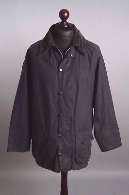 Men's BARBOUR Beaufort Navy Blue A155 Vintage Waxed Jacket Size C 46 / 117