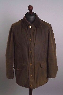 Men's BARBOUR Martindale Thornproof 8Oz Green Vintage Waxed Jacket Size L