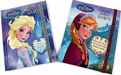 Disney Frozen Anna Elsa Book Of Secrets Kids Story Hardback New Diary Picture Uk