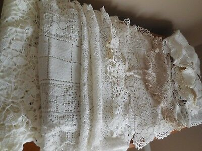 Huge Lot of 31 Antique Lace Runners & Doilies