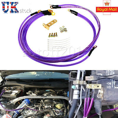 Universal 5 Point Grounding Kit Earth Ground Wire Car Cable Kit Performance UK