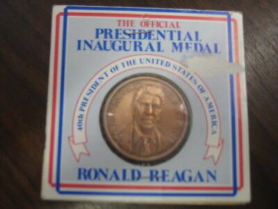 Ronald Reagan Official Inaugural Medal 1981 Pure Copper *free Shipping*