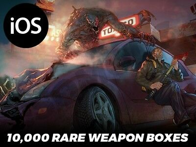 Last Day on Earth Survival 10,000 Rare Weapon Military Boxes (iOS Game Center)