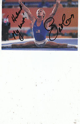 BART CONNER SIGNED Olympic Gymnastics Photo card